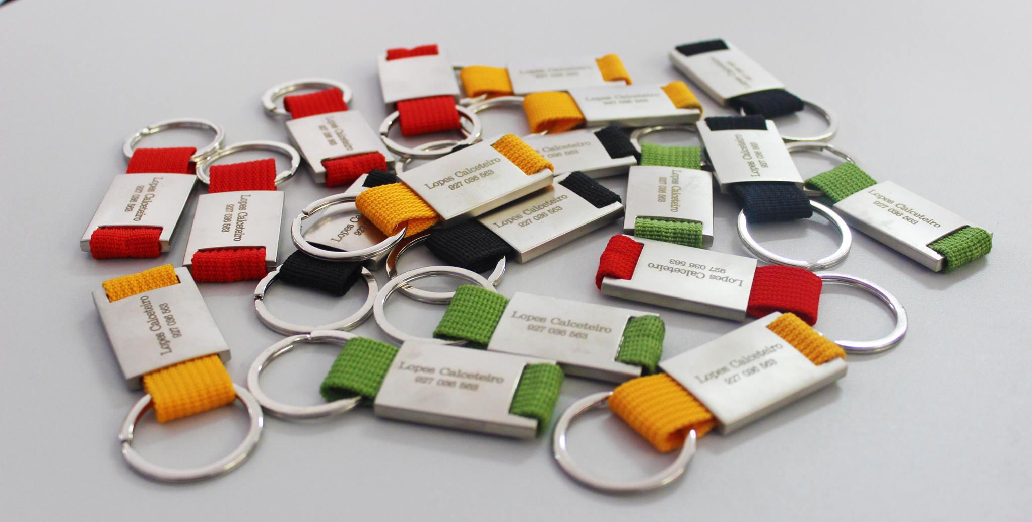 Imagem de porta-chaves estampado